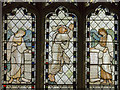 TF0851 : Detail of Stained glass window, All Saints' church, Ruskington by Julian P Guffogg