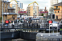 TQ3680 : Entrance lock to Limehouse Basin by David Martin