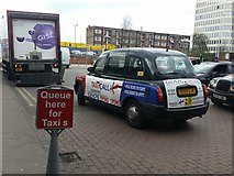 SP3378 : Queue here for Taxi s, corrected by Rich Tea