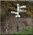 SS9731 : Little and big signposts, Bessom Cross by Derek Harper