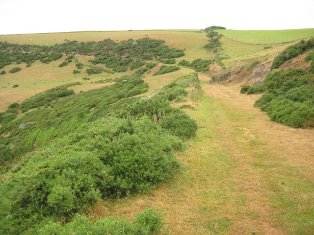 Coast path on Netton Down