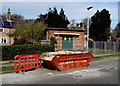 SO9222 : Skip and electricity substation, Cheltenham by Jaggery