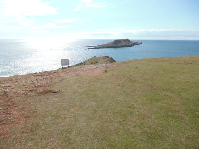 Looking West towards Worms Head from Rhossili