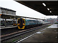 SJ4912 : A train from Aberystwyth stands in Shrewsbury station by John Lucas
