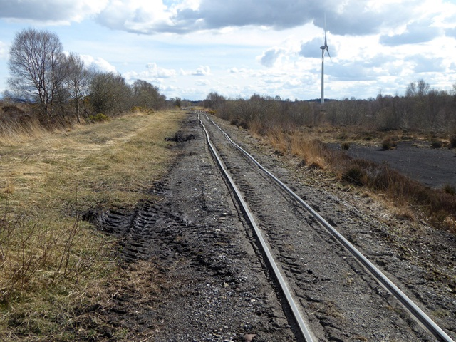 Peatland railway near Lough Boora