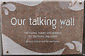 NS2441 : Our Talking Wall by Billy McCrorie