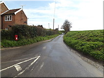 TM1453 : Bull's Road & 1 Rectory Cottage Postbox by Adrian Cable