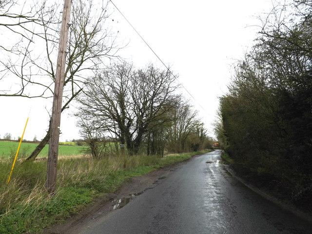 Rectory Road & footpath