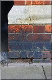 SK8508 : Benchmark on Church Street gatepost by Roger Templeman