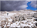 NN2545 : Boulders near summit of Stob a' Choire Odhair by Trevor Littlewood