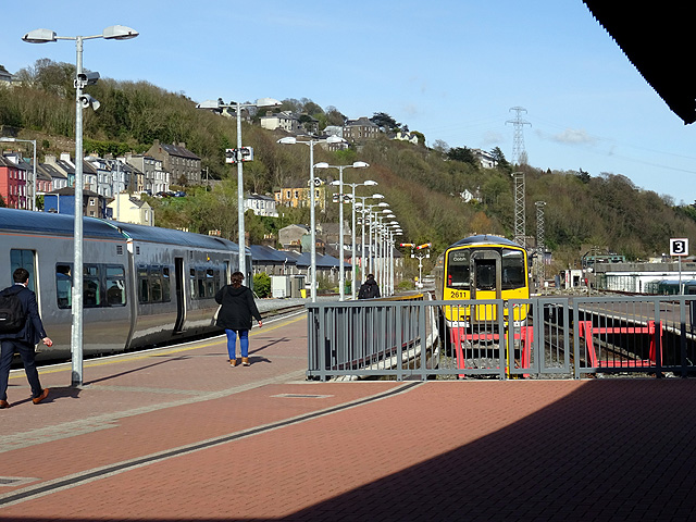 The suburban platforms at Cork station