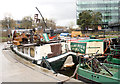 TQ3083 : Floating bookshop, Regent's Canal, King's Cross by Julian Osley