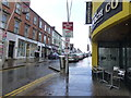 H4572 : A wet pavement, Market Street, Omagh by Kenneth  Allen