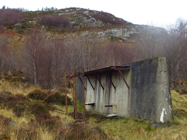 Disused equipment by the limestone quarry