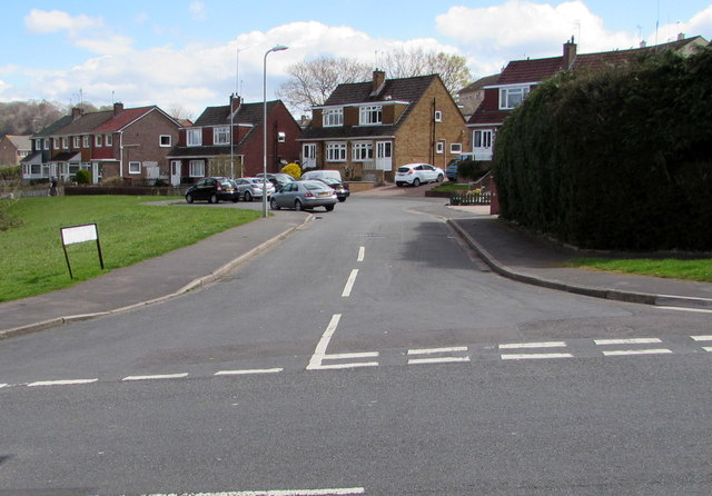 Junction of Alder Grove and Rowan Way, Malpas, Newport