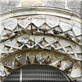 SE5548 : Porch detail, St Nicholas, Askham Bryan by Rich Tea