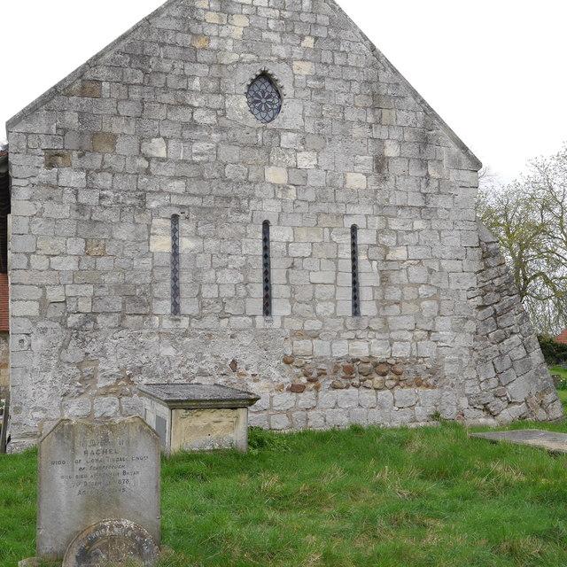 East wall, St Nicholas, Askham Bryan