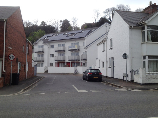 South end of Looe Road, Exeter