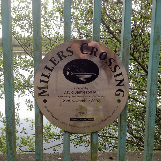 Commemorative sign, Millers Crossing, Exeter