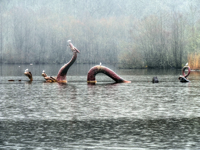 The Fabulous Water Beast at Llandrindod Lake