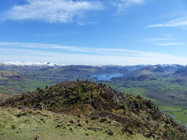 View from Dodd towards Derwent Water