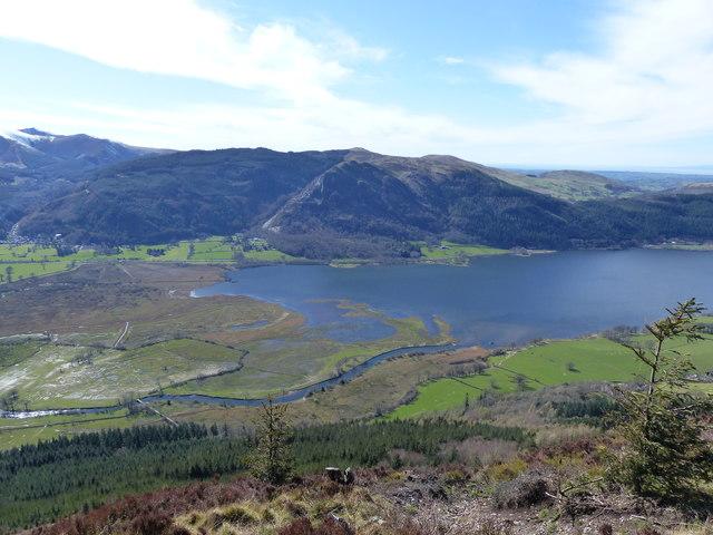 View from Dodd towards Derwent Foot