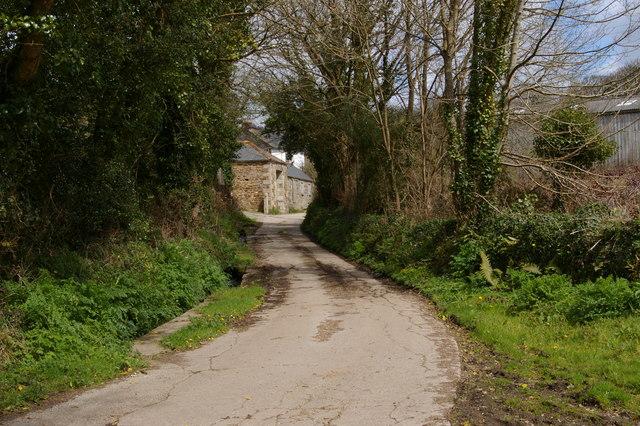 Lane into Lower Nansloe