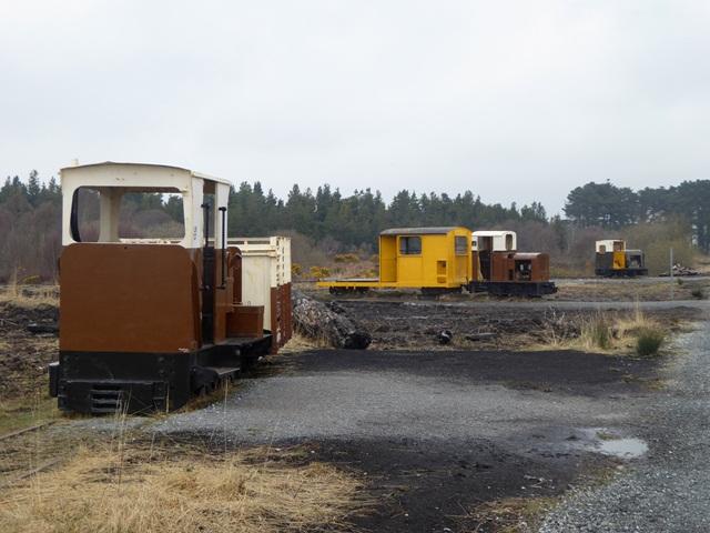 Assorted peatland railway locomotives