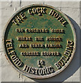 SJ6511 : Plaque at the Cock Inn on Holyhead Road by Ian S