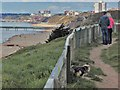 SZ1291 : Overlooking Boscombe Beach by Ed of the South