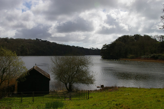 The Loe and boathouse, at Helston Lodge