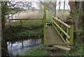 TL0899 : Small footbridge along the Nene Way by Mat Fascione