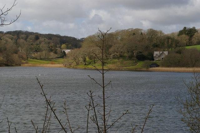 View across the Loe towards Helston Lodge
