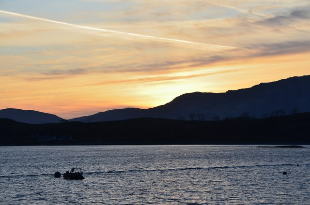 Sunset from Port Appin