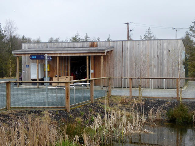Bike hire centre at the Lough Boora Discovery Park