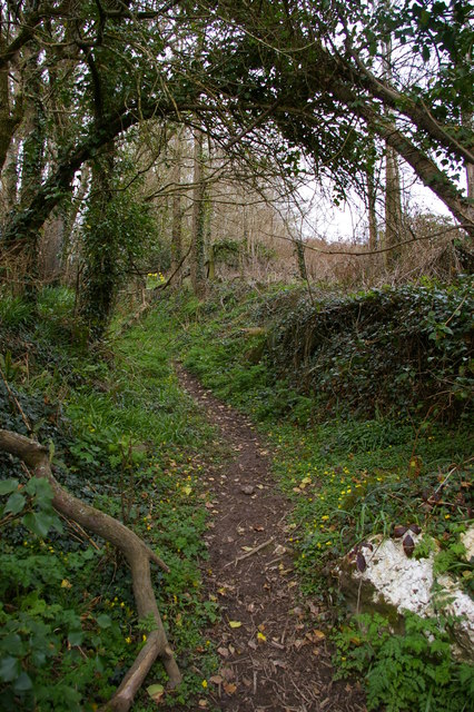 Path climbing from Lower Pentire