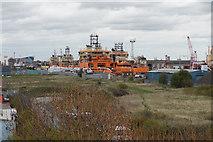 TA0827 : Ships in Albert Dock, Hull by Ian S