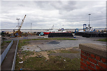 TA0827 : Bales of rubbish at William Wright Dock, Hull by Ian S