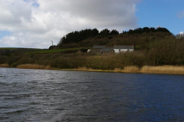 Lower Pentire across Carminowe Creek