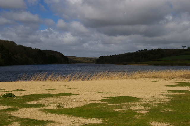 View up the Loe from Loe Bar