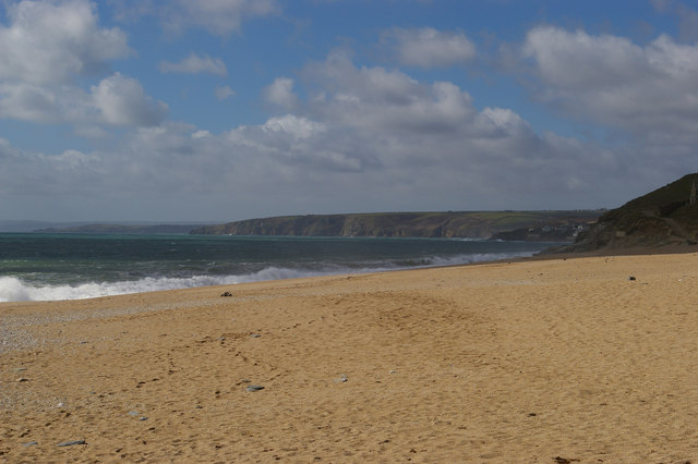 Loe Bar and view northwards