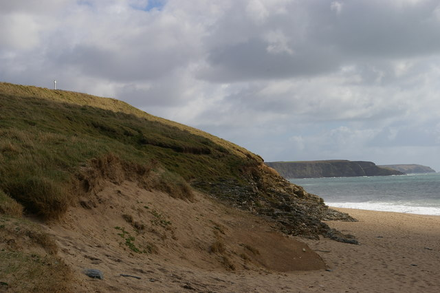 Cliffs south of the Loe Bar