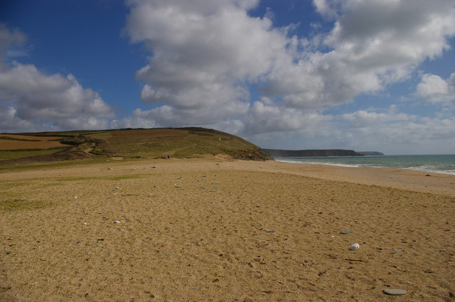 Loe Bar and view south along the coast