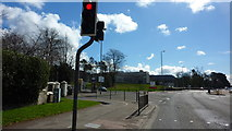 NS4075 : Stirling Road at West Dunbartonshire Council Offices by Richard Cooke