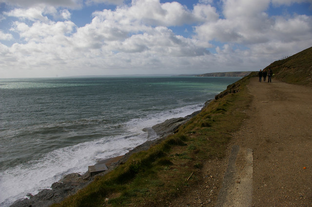 South West Coast Path from Loe Bar towards Porthleven