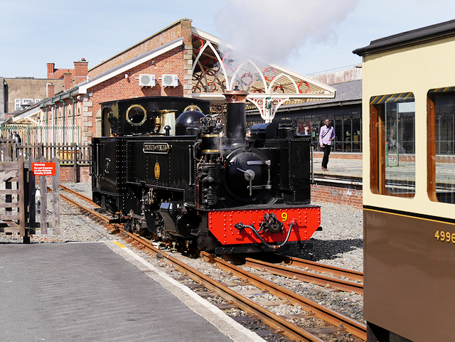 "Aberystwyth Station, Locomotive number 9, ""Prince of Wales"""
