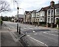 ST1478 : Zebra crossing on a hump, Llandaff North, Cardiff by Jaggery