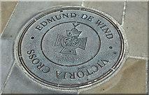 J4569 : Edmund De Wind ground plaque, Comber (April 2016) by Albert Bridge