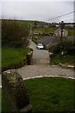 SW4538 : Zennor: view of the village from St Senara's church by Christopher Hilton