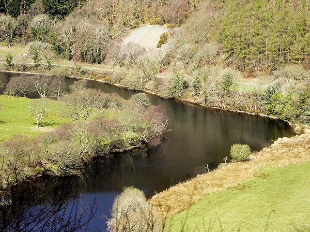 Bend in Afon Rheidol